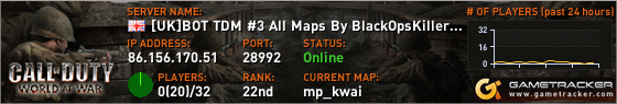 Our Call of Duty World at War Server #3 Banner